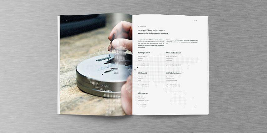 Neue Imagebroschüre für WEFA aus Singen