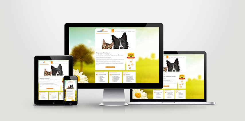Responsive Webdesign für die Tierpension Pfotentraum
