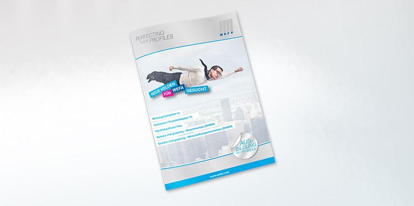 Ausbildungsbroschüre für Weltmarktführer WEFA aus Singen