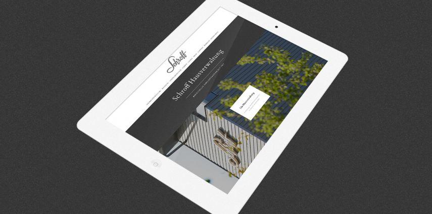 Von Grund auf renovierte Website für Schroff Hausverwaltung